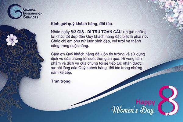 Chúc mừng quốc tế phụ nữ 8.3