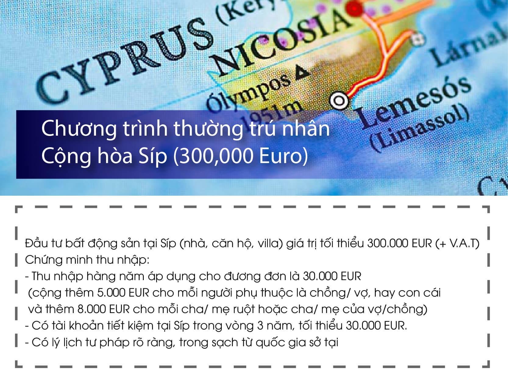 điều kiện đầu tư định cư đảo Síp